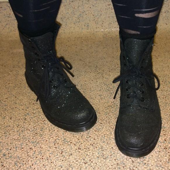 Black glitter Dr Martens